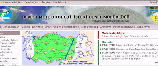 Meteoroloji'nin internet sitesi yenilendi