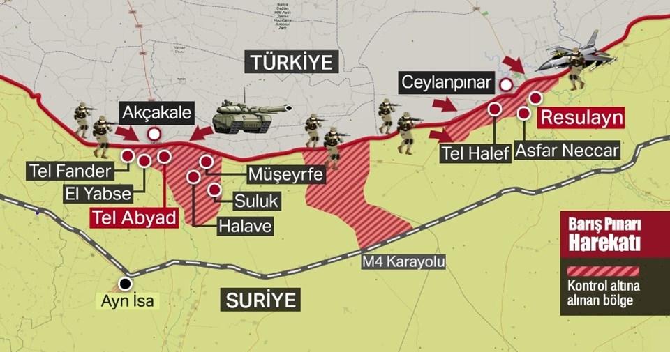 turkiye-baris-pinari-harekatı harita ile ilgili görsel sonucu