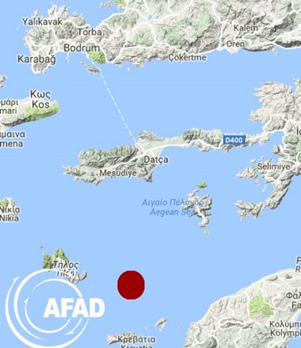 Merkez üssü Datça'nın 36,78 kilometre açığında 5,2 büyüklüğünde depremmeydana geldi.