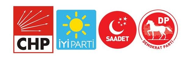 CHP İYİ Parti Saadet Partisi Demokrat Parti ittifak.jpg