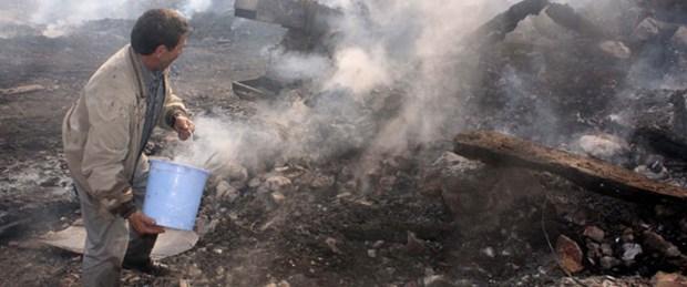 Muhtarın evinde çıkan yangın köyü kül etti
