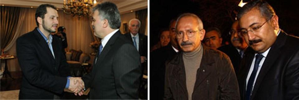 Cumhurbaşkanı Gül, Erbakan ailesine taziye ziyeretinde bulunurken, Kılıçdaroğlu da Saadet Partisi Genel Merkezi'ne gitti.
