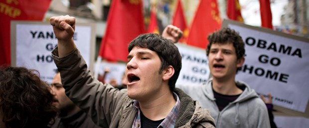 Obama protestosuna sert müdahale