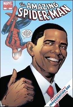 """Arkadaki Örümcek Adam yeni başkana soruyor: """"Senin resmin benim kapağımda, benimki de doların üzerinde olacak mı?"""""""