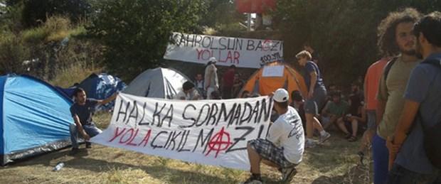 ODTÜ'de 'yol' protestosu