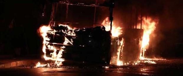Okmeydanı'nda otobüsüne molotoflu saldırı