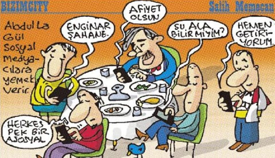 Sabah Gazetesi'nden Salih Memecan, toplantıyı böyle çizdi.