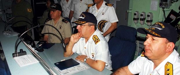 Oramiral Ataç Giresun gemisinde