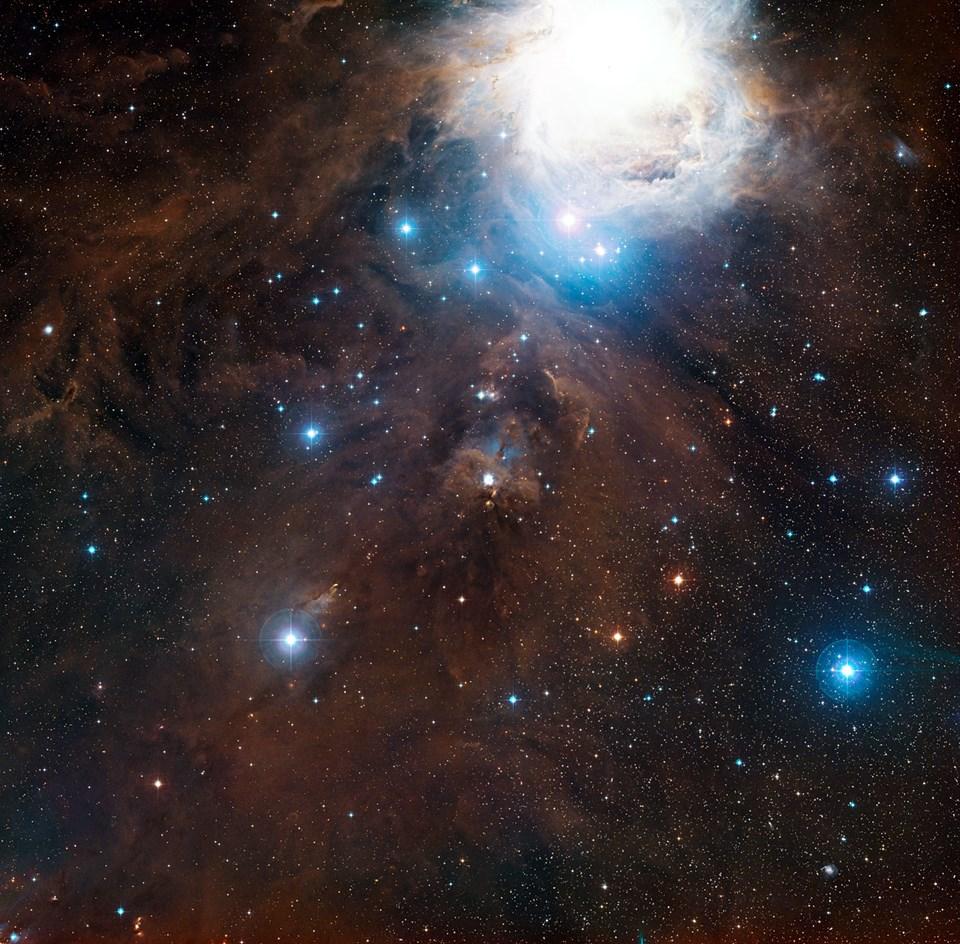 Görünür ışıkta Orion takımyıldızı.