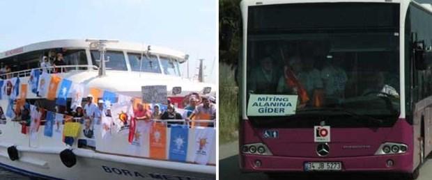'Otobüs ve vapurlar kiralandı'