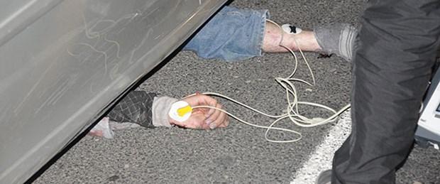 Otomobilin altında 3 kilometre sürüklendi