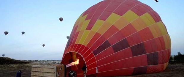 Pilot balondan düştü