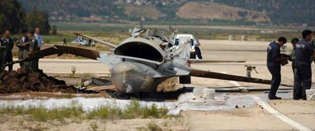 Piste inen F-16 devrildi