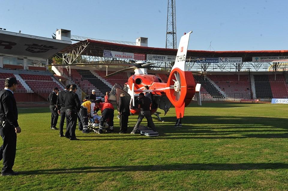 Kaymakam Safitürk, ambulans helikopterle Gaziantep'e sevk edilmişti