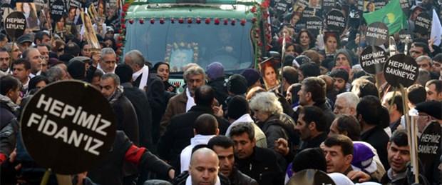 PKK'lı 3 kadın için Diyarbakır'da tören