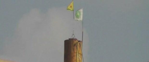 Resulayn'da PYD bayrağı yeniden asıldı