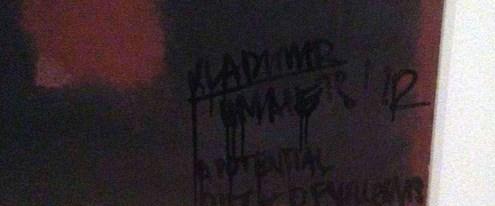 Rothko'nun tablosu 'karalandı'