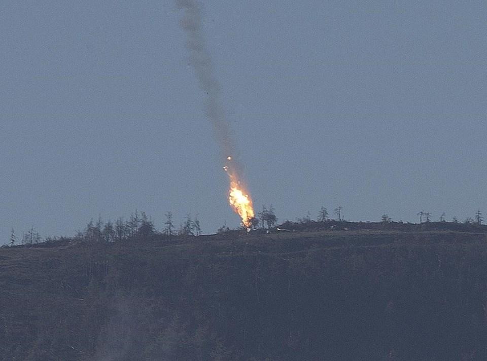 Suriye sınırındaki uçağın Türk F-16 savaş uçakları tarafından düşürüldüğü belirtildi.