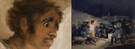 Goya'nın 3 Mayıs 1808'de Madrid adlı tablosu ve detayı.