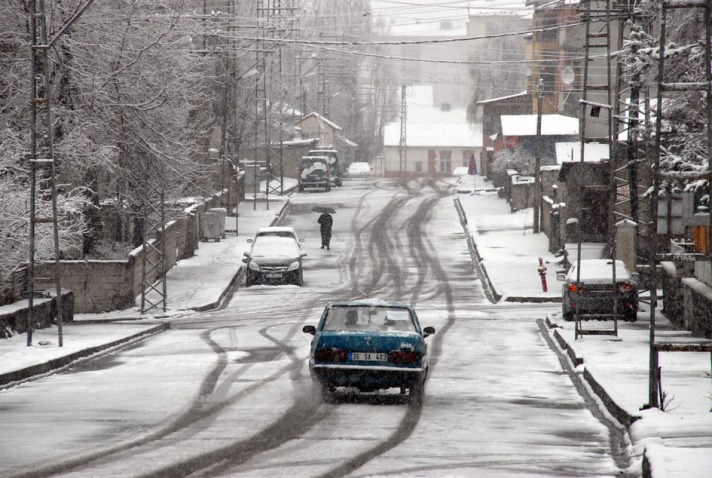 Sarıkamış'ta kar manzaraları