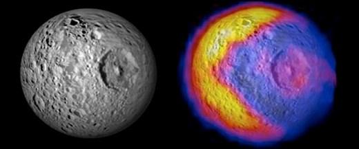 Satürn uydusunda Pac-Man'e rastlandı