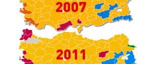 Seçim haritası 4 yılda böyle değişti