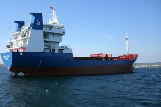 1974 yılı yapımı 78.5 metre uzunluğundaki Türk bandıralı Bilal Bal isimli kuru yük gemisi.
