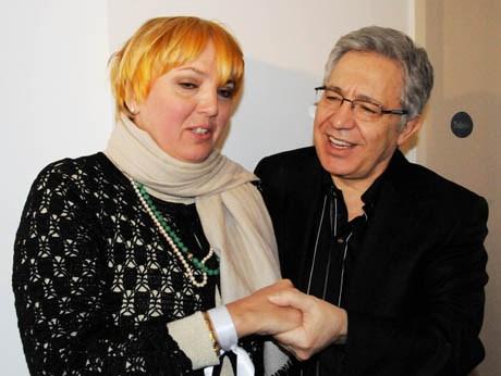 Livaneli Yeşiller Partisi Eş Başkanı Claudia Roth ile...