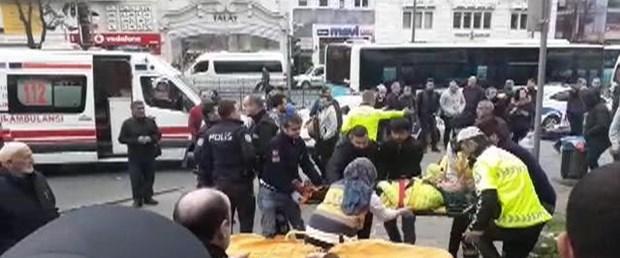 İstanbul Beyazıt'ta halk otobüsü durağa daldı ! ile ilgili görsel sonucu
