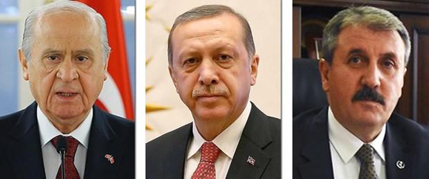 SON DAKİKA: MHP Lideri Bahçeli ve BBP Lideri Destici'den Cumhurbaşkanı Erdoğan'a tebrik
