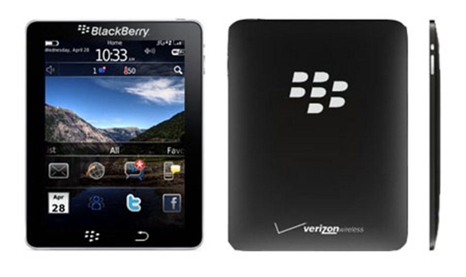 Blackberry'nin tableti bu olabilir mi?