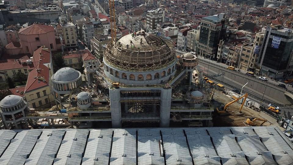Taksim Camii'nin yüzde 85'i tamamlandı