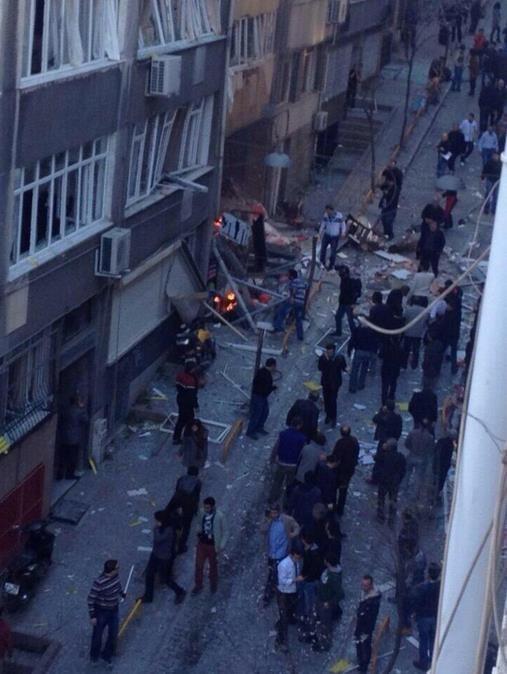 Taksim Kazancı Yokuşu'nda patlama