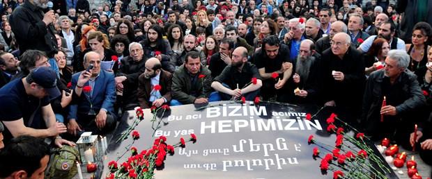 Taksim'de 1915 olaylarına anma töreni