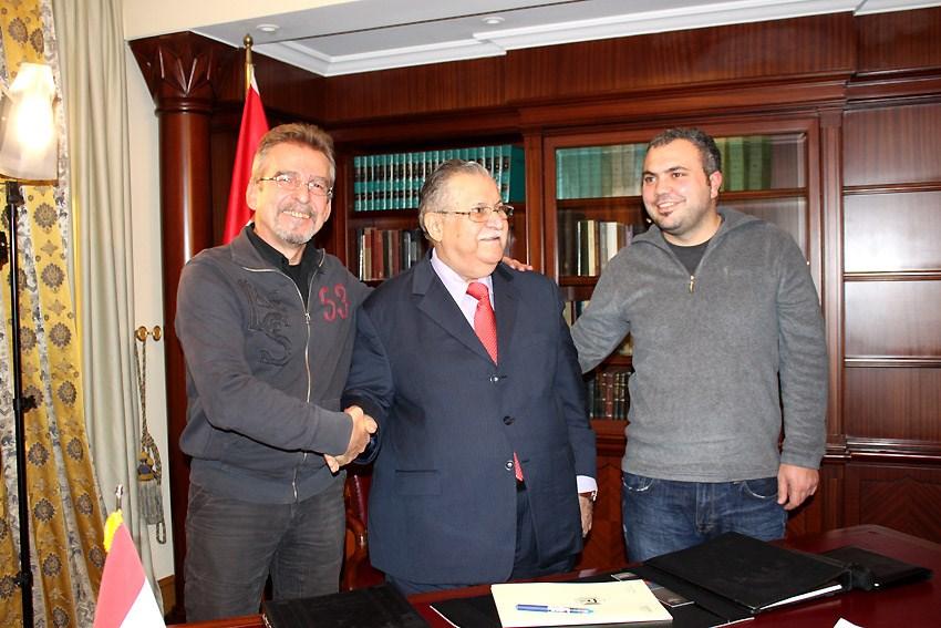 Talabani NTV ekibiyle