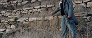 Tarihi duvar sağanak yağışla ortaya çıktı
