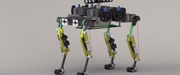 Tasmayla gezdirilen minyatür robot çita