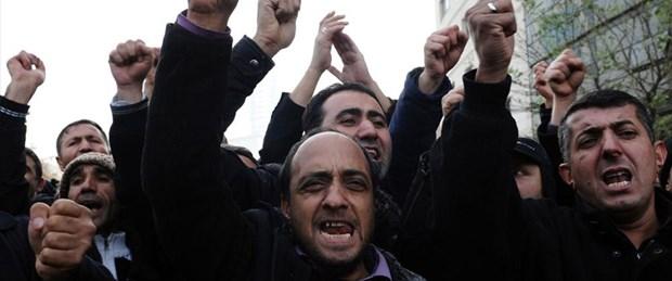 Tekel işçileriyle polis arasında arbede