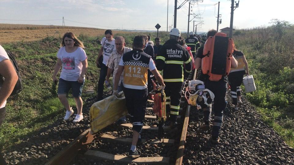 Tekirdağ, Tekirdağ tren kazası, Tekirdağ tren kazası görüntüleri