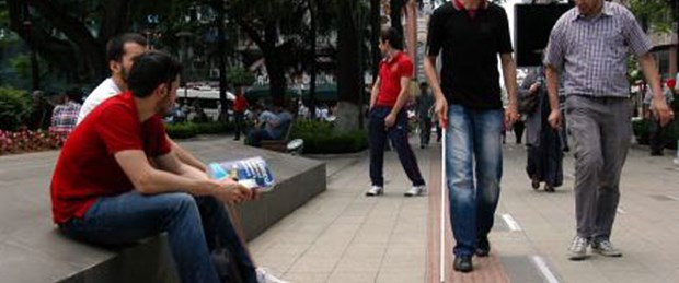 Trabzon'da fıkra gibi engelli yolu