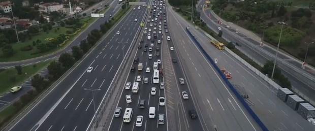 Fatih Sultan Mehmet Köprüsü girişi Avrupa Yakası