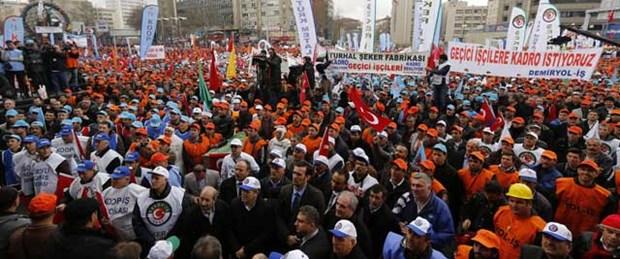 Türk-İş'ten Ankara'da miting