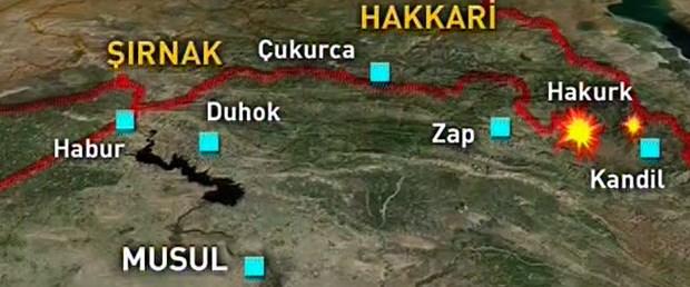 Türk savaş uçakları PKK kampını bombaladı