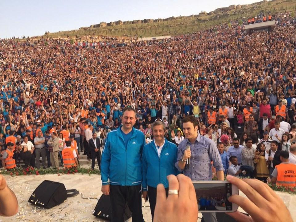 Mustafa Ceceli, Başkan Tahmazoğlu ve Abdulhamit Gül