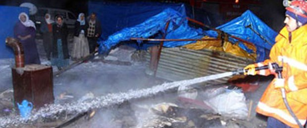 Van'da yine çadır yangını