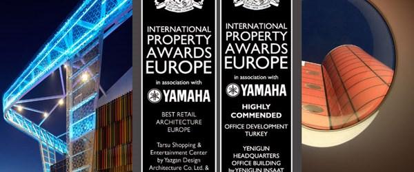 Yazgan Tasarım Mimarlık'a Avrupa'dan 2 ödül