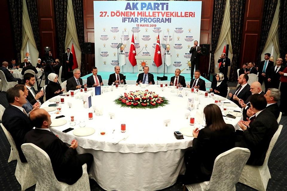 Erdoğan, pazartesi akşamı milletvekilleriyle iftar yemeğinde bir araya gelmişti