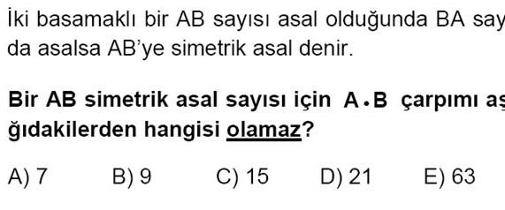 YGS'de bir matematik sorusu iptal