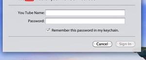 YouTube, Mac OS X'le birlikte gelecek