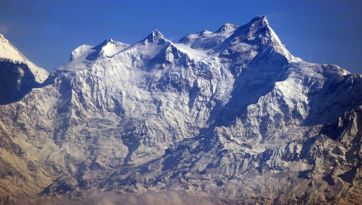 The roof of the world, view of the Himalayas from the sky